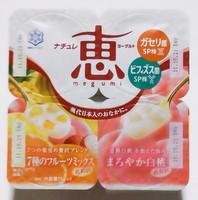 メグミルク恵ヨーグルト7種のフルーツミックス、まろやか白桃